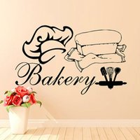 bakery chef - Hot Sale Bakery Wall Stickers Vinyl Removable Home Decor Chef Hat And Clothes Wall Decals Kitchen