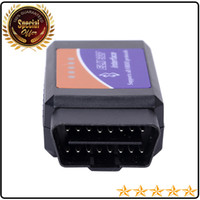 Wholesale ELM Bluetooth CAN bus OBD II Elm OBD2 Scanner code reader OBD2 EOBD CAN BUS Interface OBD2 OBD II Auto Car Diagnostic Scanner tool