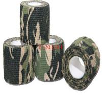 backpacking rifles - Fashion self adhesive elastic bandage Army Camo Wrap Rifle Shooting Hunting Camouflage cohesive Tape m