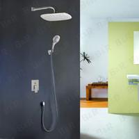 Wholesale B R Color LED Shower Head Valve Hand Spray Bathroom Shower Set polished Chrome BR S80 w