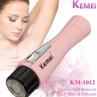 Wholesale Kemei KM Mini Waterproof Hair Removal Armpit Hairs Shaver Portable Dry Battery