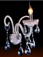 beautiful sconces - Light Crystal Wall Sconce Wall Lamp Wall light With Beautiful Ocean blue Crystal