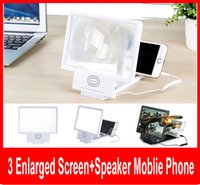 amplifier cell - Upgrade Enlarged Screen D Video Amplifier Eyes Display Magnifying with Speaker Cell phone Stand with Package