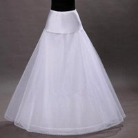 ball gown accessories - 2016 Hot A Line White Wedding Petticoats Free Size Bridal Slip Underskirt Crinoline For Wedding Dresses Wedding Accessories