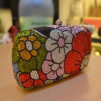 microfiber suede - Newest Designers European Style Rhinestone Clutch Purses Ladies Handbags Luxury Gift Wedding Bridal Bridesmaid Clutches Money Hand Bags