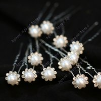 hair grip pin - 20PCS Bridal Wedding Prom Crystal Diamante Pearl Flower Hair Pins Clips Grips SV005576