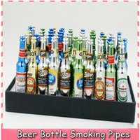 rasta - 120PCS DHL Creative Various Beer Bottle Shaped Rasta Tobacco Pipe Electronic Cigarettes Metal Smoking Pipes