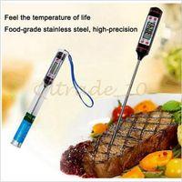 Wholesale 1000pcs CCA2821 Food Grade Digital Cooking Food Probe Meat Kitchen BBQ Selectable Sensor Thermometer Portable Digital Cooking Thermometer