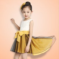Cheap The new Korean 2015 girl child dress children's summer wear skirt cuhk children dovetail sundress children's clothes