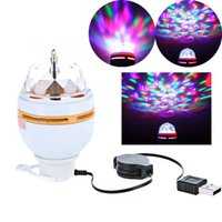 Wholesale Mini LED RGB Laser Projector Stage Lighting Adjustment DJ Disco Party Club White with USB Interface L014150