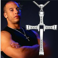 men jewelry accessory - The Fast and Furious Dominic Toretto Cross Pendant Necklaces Man Jewelry Top Quality Accessories Men s Necklace F4ED