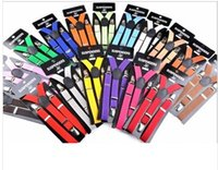 Wholesale boy girls Suspenders Children Clip on Adjustable Elastic Pants Fashion Y shaped tri clamp kids suspenders