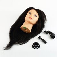 Wholesale 1pcs Synthetic Hair Training Head Hair Hairdressing With Clamp Salon Mannequin wig hair