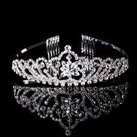 beauty headbands - 5PCS Beauty Bride Crown Tiara Hair Combs Bling Bling Rhinestone Tiara Headband Wedding Bridal Jewelry YC