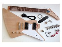Wholesale The new electric guitar kit semi finished products mahogany wood transparent electric guitar