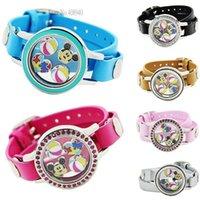 Wholesale 2015 New floating locket charms bracelet PU Leather Locket Bracelets Christmas gift