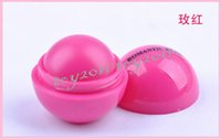 Wholesale Freeshipping Color New Round Style Smooth Moisturizing Fruit Flavor Organic Natural Lip Balm Makeup Lip Care