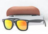 beach matt - Men s Women s mm Polarized Matt Black Frame Red Lens Sunglasses glass Lenses Steel Hinge Beach Sunglass N