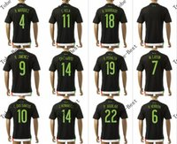 wholesale soccer jerseys - 2015 thai quality customized mexico soccer jersey j hernandez o peralta home black football jersey shirts accept mix order