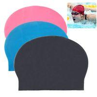 Adult swimming cap - Fashion Durable Sporty Rubber Swim Cap Swimming Hat