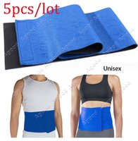 Wholesale 5PCS Hot Waist Trimmer Exercise Wrap Belt Slimming Burn Fat Sweat Weight Loss Body Shaper SV005080