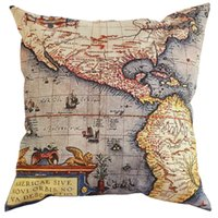 beautiful map design - Hot Sale New Design World Map cotton bedding pillow case under a beautiful wedding pillowcase with drop shipping