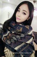 Wholesale National wind lady long scarfs geometry tassel restoring acient personality women shawls cape thinken warmer good quality in Winter