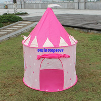 Cheap Ultralarge children kids tents teepee Princess Castle kids Beach tent toys Indoor Outdoor play house Toys Christmas party Gifts