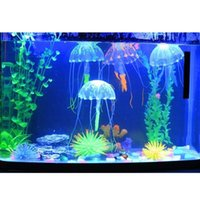 Wholesale Blue small size jellyfish aquarium decorations lifelike simulation of jellyfish aquarium fish tank toy
