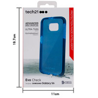 Wholesale For Samsung Galaxy S6 Tech Evo Check Soft TPU Case Ultrathin TECH21 Back Cover With Retail Packaging