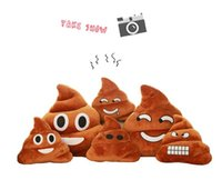 Wholesale 50PCS LJJHH749 Decorative Cushion Emoji Pillow Gift Cute Shits Poop Stuffed Toy Doll Christmas Present Funny Plush Bolster Pillows