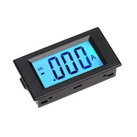 Wholesale LCD DC A Digital Display LED Panel Ammeter AMP Ampere Meter with A mV Shunt Resistor Current Meters