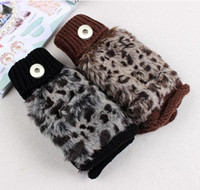 Wholesale Newest Leopard snap button gloves snap mittens TX9133 fit mm mm snap dress decoration DIY for women