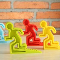 KRH15407 baby signing - Baby Safety Items Cute Running Man Silicone Door Stopper Exit Sign Baby Floor Door Stops