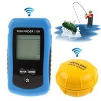 aa ocean - Wireless Fishfinder Fish Finder Sonar Sounder Sensor Alarm Transducer M Depth in Ocean River Lake