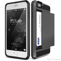 plastic card holder - Verus Hybrid PC TPU Dual layer Card holder case cover For iPhone SE s plus s Samsung GALAXY S7 S6 Edge PLUS NOTE card slot back cover