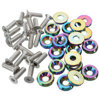 best quality washers - Best Price High Quality Billet Aluminum Bumper Washer Engine Bay Dress Up Kit Neo Chrome Screws Nuts