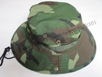 Wholesale Male New Summer Mens Wide Brim Military Camouflage Bucket Hats Camo Fishing Caps For Mens