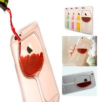 glass wine bottle - D Liquid Cocktail Bottle Flow Red Wine Glass Transparent Clear Hard Case Cover For iPhone s s plus S5 S6 note