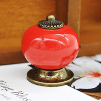 Wholesale New Ceramic Ball Door Handles Cabinet Cupboard Handles Drawer Pull Knobs x34mm Colors X60 JJ1034W