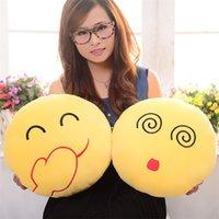 best seller toys - Best Seller Diameter cm Cushion Cute Lovely Emoji Smiley Pillows Cartoon Cushion Pillows Yellow Round Pillow Stuffed Plush Toy