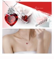 Wholesale Free Fashion Colors Charms Zircon Heart love Women Pendant for jewelry making pendulum Silver Plated necklace accessories