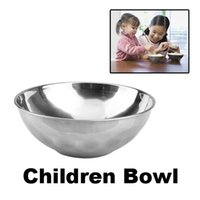 Wholesale New Stainless Steel Children Safe Bowl Double Layer Heat Insulated Bowl Smooth Rolled Edge Safe Kids Soup Bowl BHU2