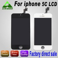 Cheap Front Assembly LCD Display For iPhone 5 5G GSM with Touch Screen Digitizer Replacement Black White DHL Free Ship