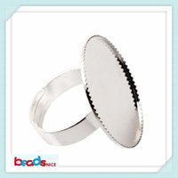Wholesale Beadsnice ID8353 crankset bronze adjustable ring base blank cabochon ring setting of jewelry accessories