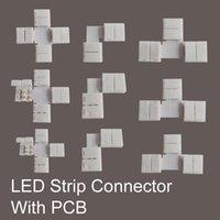 Wholesale LED Strip Connector Set sets per Without soldering connector for strip jointing connecting LED Strip Kit Accessory