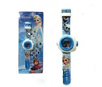 Wholesale Frozen Childrens Wristwatches Elsa Princess Cartoon Pattern Childrens Cartoon Electronic Watches pattern projection SS2007