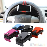 Wholesale niversal Car Steering Wheel Bike Clip Mount Holder For iphone Phone Samsung GPS PNI