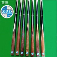 Wholesale 2015 hot master Snooker cues ASH Wood Hand Made Cue Blue Shark cues