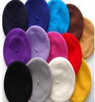 Cheap Beret wool beanie Best Plain Dyed Casual winter beret